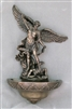 St. Michael Font, Cold-Cast Bronze, 9""