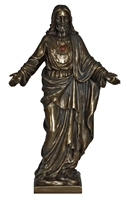 Sacred Heart of Jesus, cold cast bronze, 10""