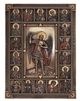 St. Michael Wall Plaque, cold cast bronze, 9x12""