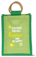 God Made this Day Small Jute Bag