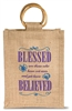 Blessed are Those Small Jute Bag