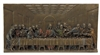 Last Supper Plaque lightly hand-painted in cold-cast bronze 14x7x1""
