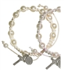 White Shamballa Adjustable Bracelet