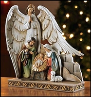 Nativity with Angel Figurine 8""