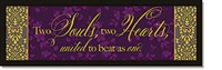 Two Souls, Two Hearts - Plaque