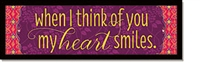 When I think of you Plaque