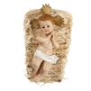 Infant Jesus with crib 7 inches