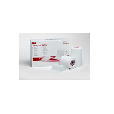 "3M Health Care 1534-3, 3M TRANSPORE WHITE DRESSING TAPE White Dressing Tape, 3"" x 10 yds, 4/bx, 10 bx/cs, CS"