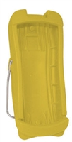 Yellow handheld protective boot for Radical products