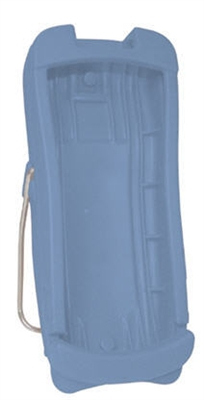 Light blue handheld protective boot for use with all Rad-5, Rad-5v, and Rad-57 products