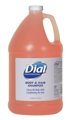 Dial Corporation 2340003986, DIAL HAIR & BODY WASH Hair & Body Wash, 1 Gallon, 1 Pump, 4/cs (48 cs/plt), CS
