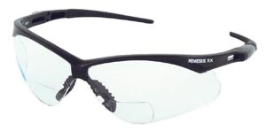 Kimberly-Clark Professional 28630, KIMBERLY-CLARK NEMESIS V60 CHEATER STYLE SAFETY EYEWEAR Jackson Safety Glasses, Rx Reader, +3.0, Clear Lens, Black Frame, 6/cs (28630), CS