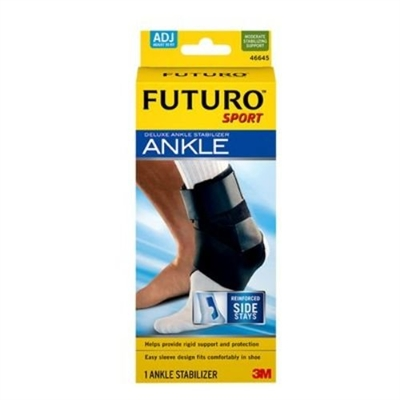 3M Health Care 46645EN, 3M FUTURO DELUXE ANKLE STABILIZER Ankle Stabilizer, Adjustable, 2/pk, 6 pk/cs, CS