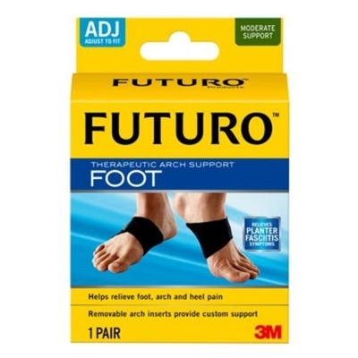 3M Health Care 48510EN, 3M FUTURO THERAPEUTIC ARCH SUPPORT Arch Support, Adjustable, 2pk, 6 pk/cs, CS