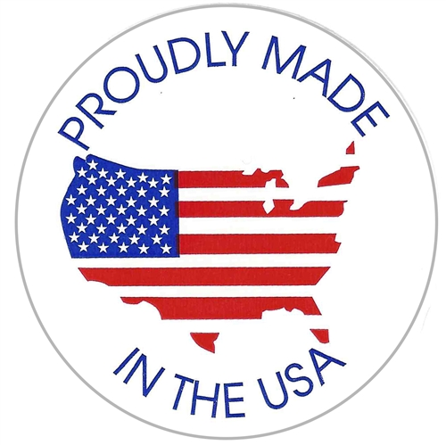 American Flag Map Proudly Made In The Usa Circle Label 2 500 Ct