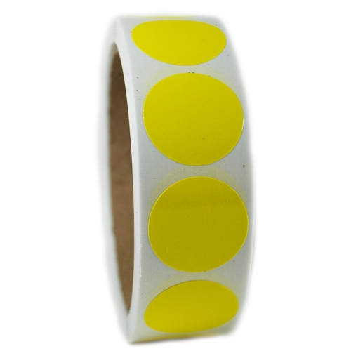 glossy yellow circle sticker 1 diameter 500 ct