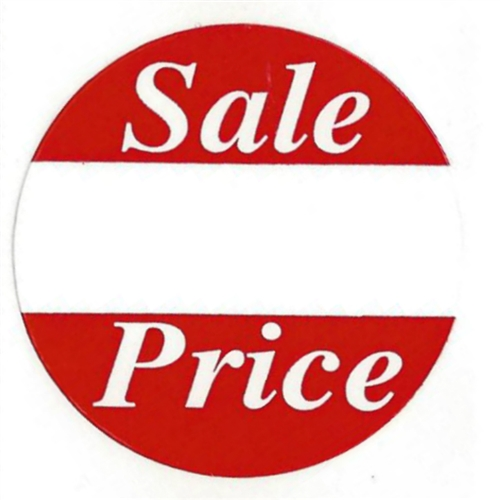 Red sale price labels stickers 1 5 diameter 500 ct roll sl073f