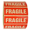 "Red and White ""Fragile"" Sticker Label - 1"" by 3"" - 500 ct"