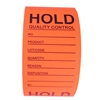"Fluorescent Red ""Hold Quality Control"" Labels - 3"" by 5"" - 500 ct"