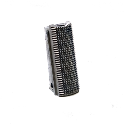 Officers Stainless Mainspring Housing Checkered