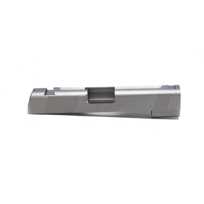 1911 Commander 40 S&W/10mm Stainless Slab Slide with Front Rear and Top Serrations with Novak Sights