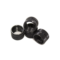 Knurled Black Low Profile Thread Protector 1/2x28