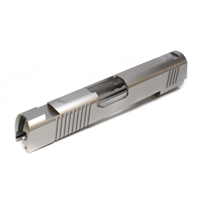 1911 Commander Carbon .45 ACP Slide With Front Rear and Top Serrations Slab Side