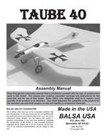 Taube 40 Plans and Instruction Manual