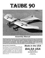 Taube 90 Instruction Manual only