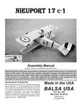Quarter Scale Nieuport 17 Manual Digital Download