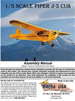 1/3 Scale J-3 Cub Instruction Manual only