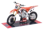 NewRay 1:12 Scale Team Honda HRC - COLE SEELY - Replica Dirt Bike Toy