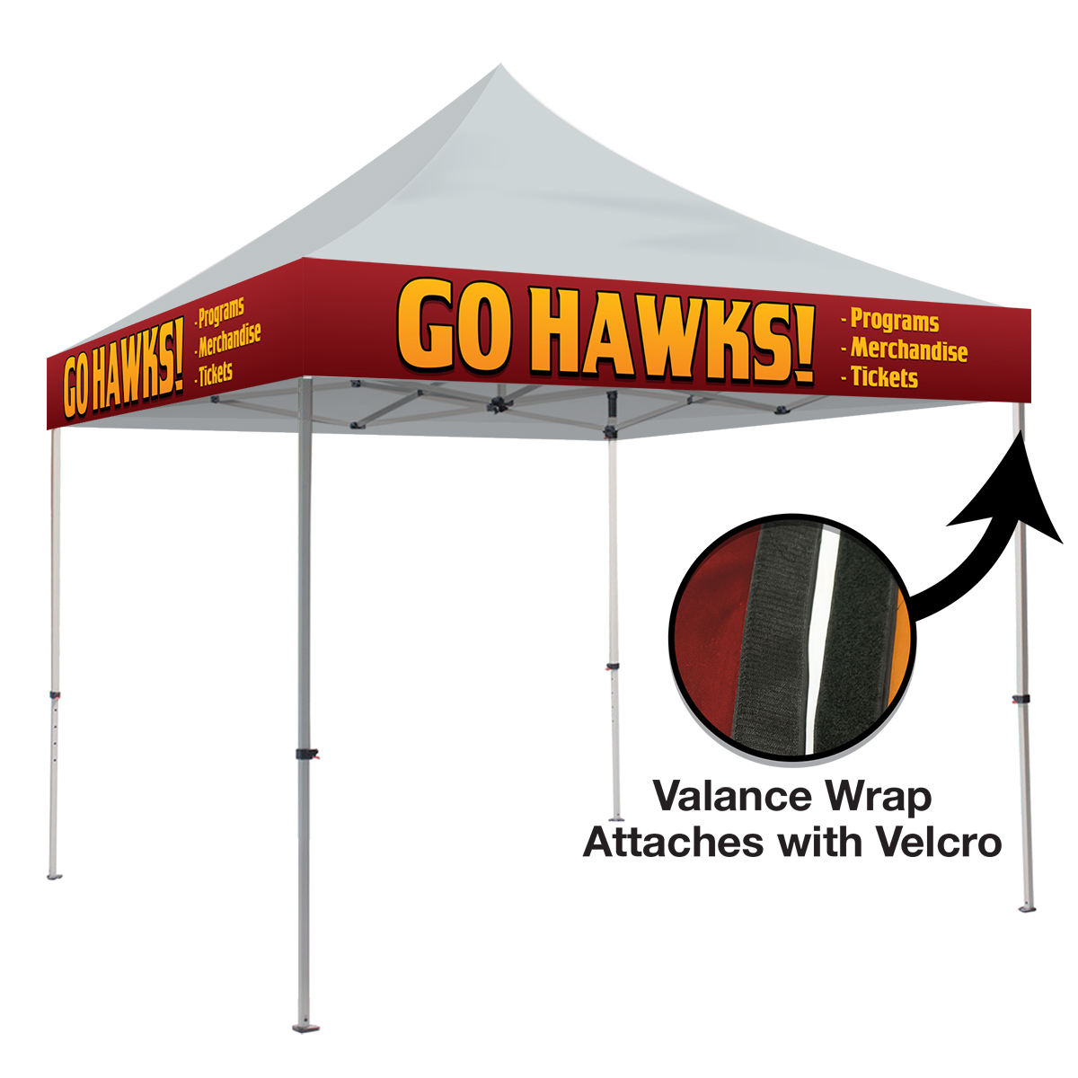 225 & 10ft Pop Up Canopy - Valance Wrap