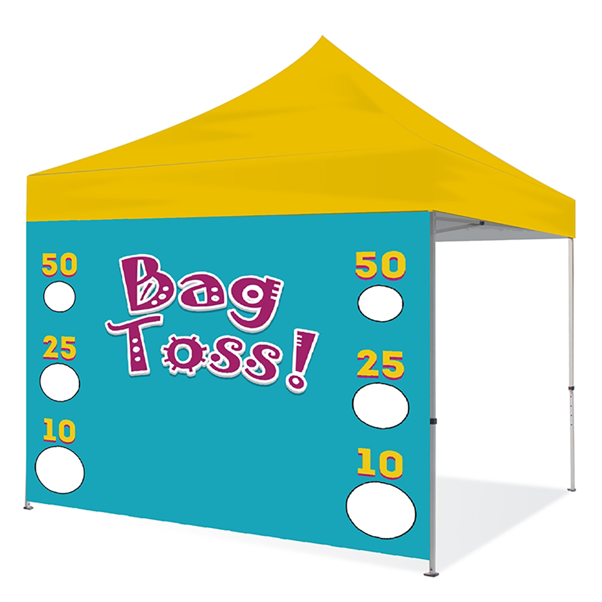 10ft Pop Up Canopy Wall - Game