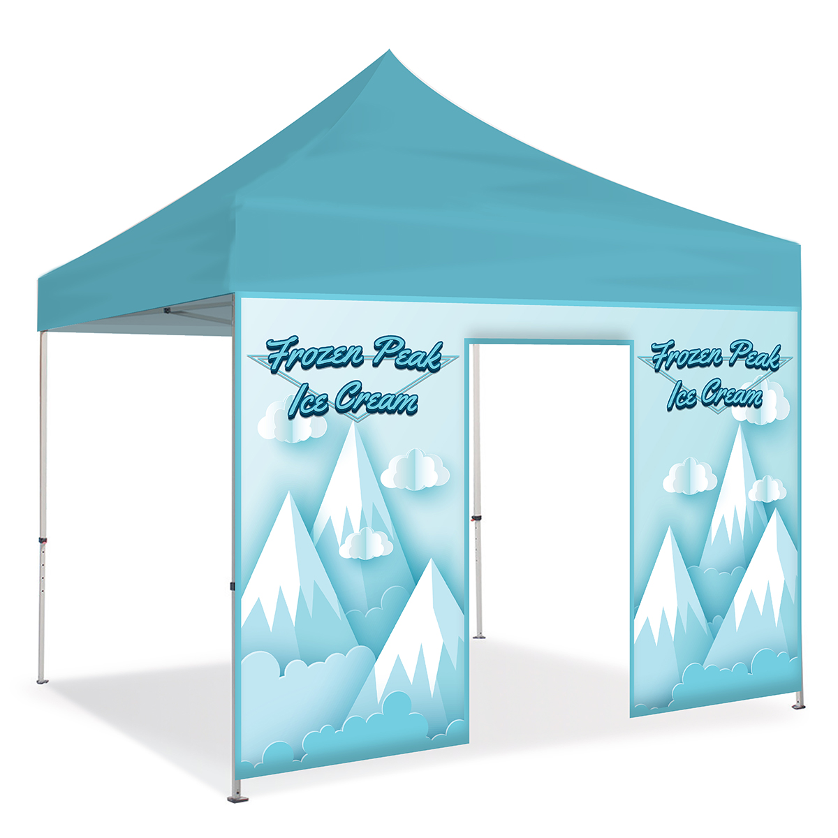 10ft Pop Up Canopy Wall - Rolling Door