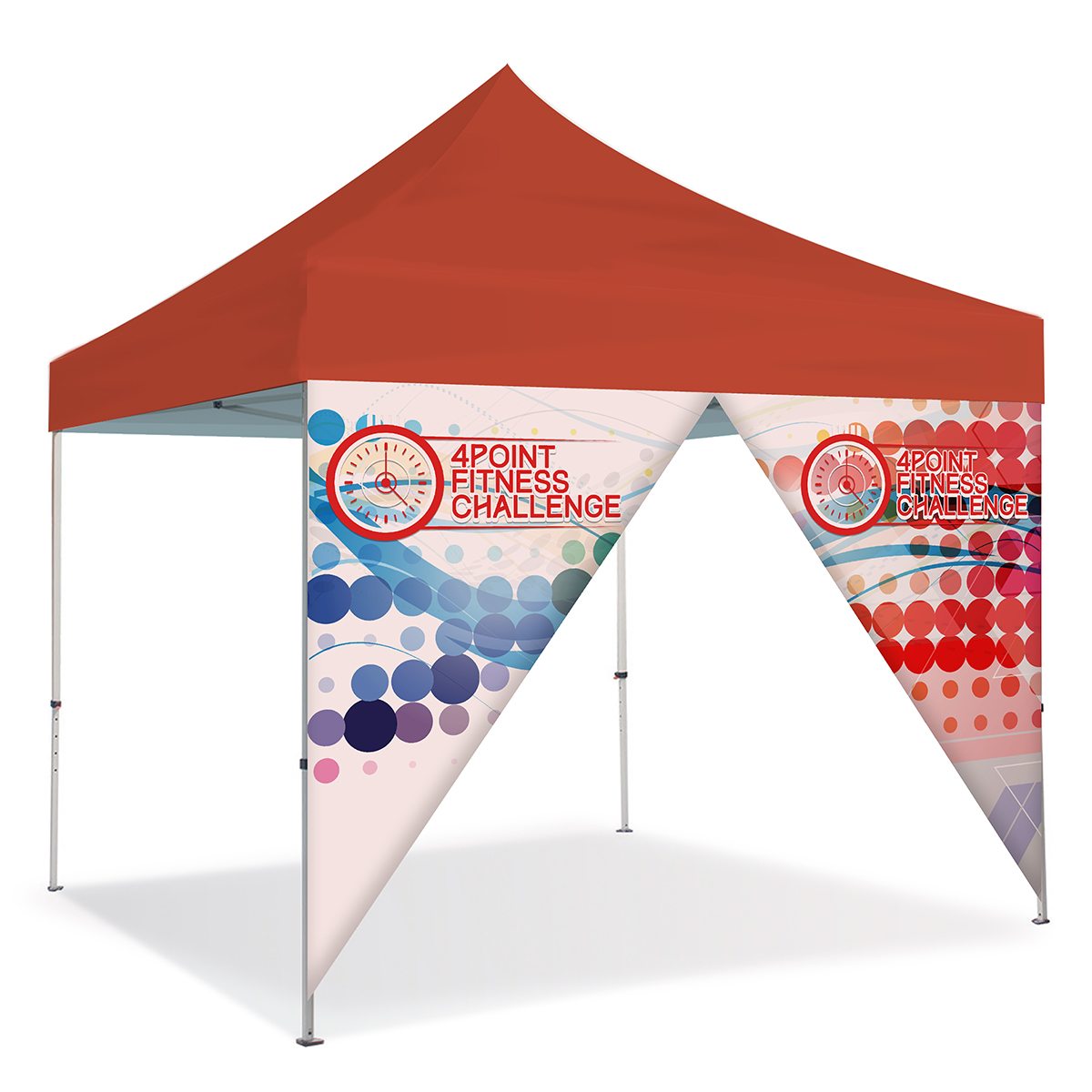 10ft Pop Up Canopy Wall - Zipper Door