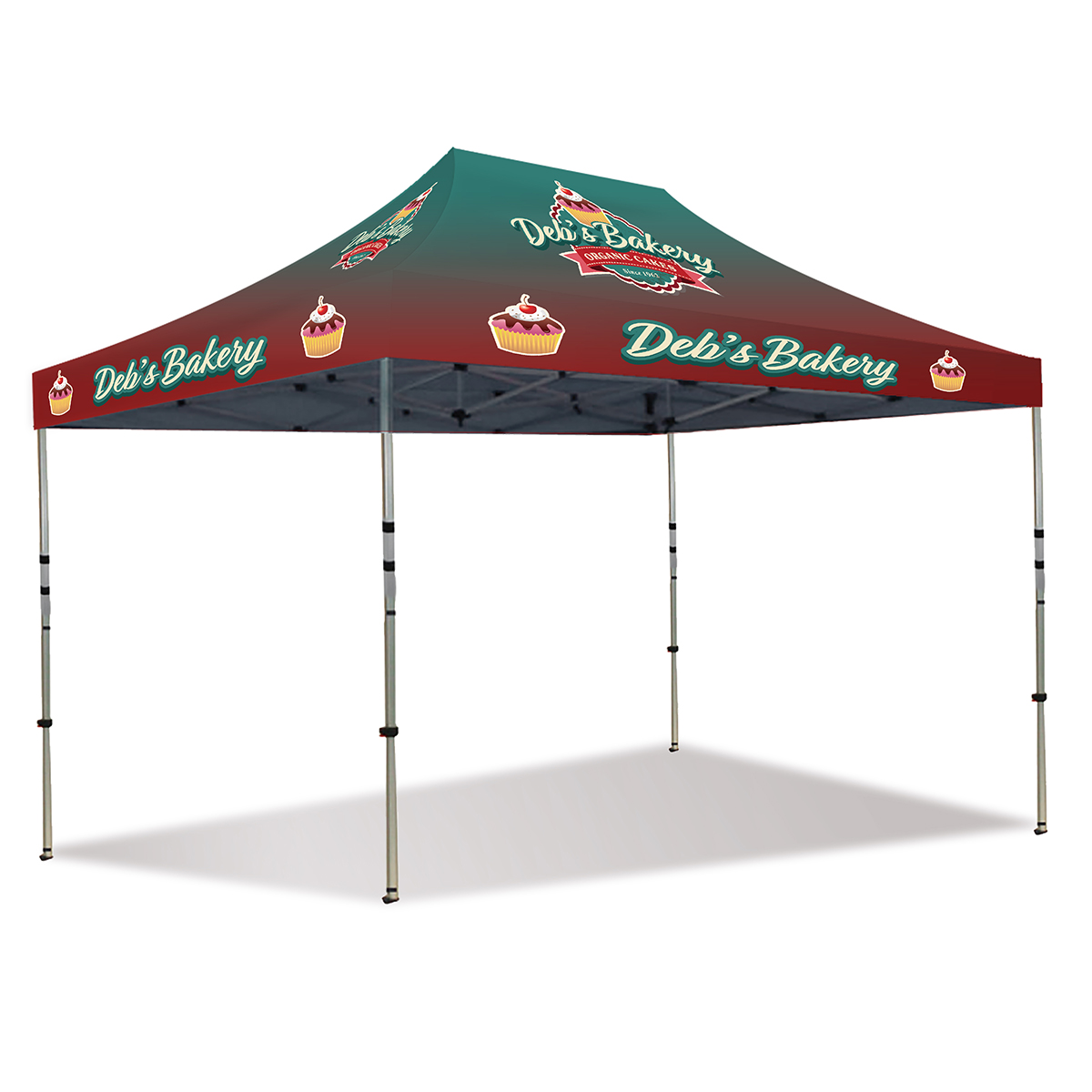 15ft Pop Up Canopy - Full Color - Deluxe