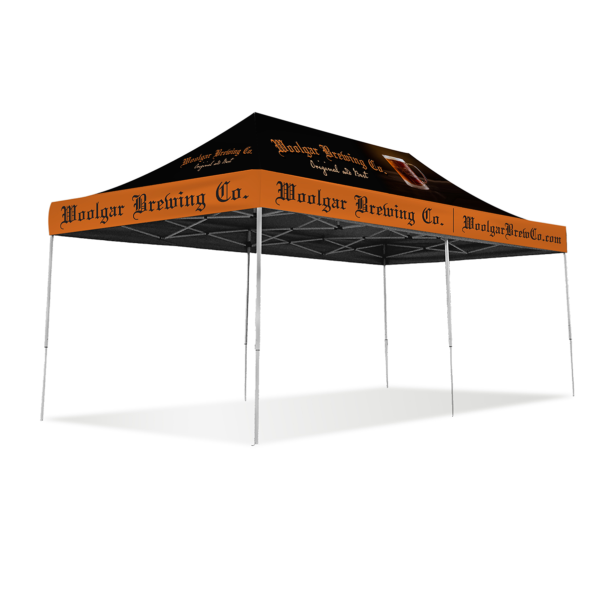 20ft Pop Up Canopy - Full Color - Deluxe