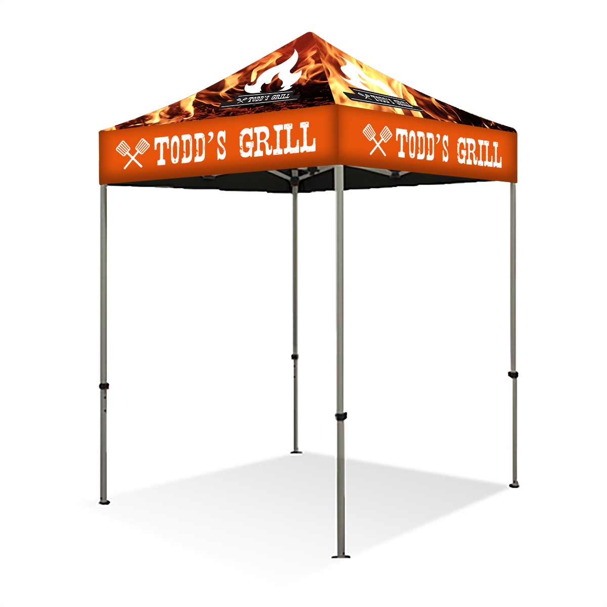 6ft Pop Up Canopy (Steel) - Full Color