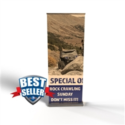 "Deluxe Retractable Banner Stand 33.5"" x 80"""