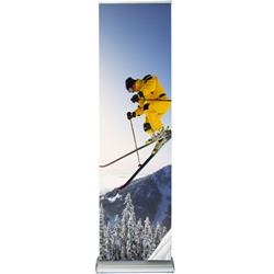 "Double Sided Deluxe Retractable Banner Stand 24"" x 74"""