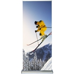 "Double Sided Deluxe Retractable Banner Stand 36"" x 74"""