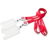 Bulldog Clip Lanyard with Plastic Badge and Card Pouch