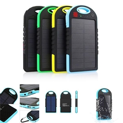 Solar Powered Waterproof Power Bank