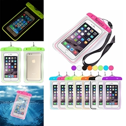Waterproof Glow in the Dark Cell Phone Bag