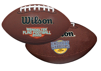 "Custom Composite Leather Football - 14"" Size"