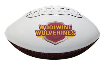 Custom Synthetic Leather Autograph Football - Full Size