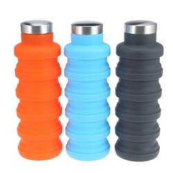 17 OZ Portable Silicone Sport Water Bottle
