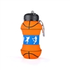 Novelty 13 oz Basketball Shape Folding Water Bottle