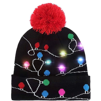 Novelty Christmas Hat with Lights
